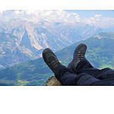 Relaxation & recreation, Hiker, Rest