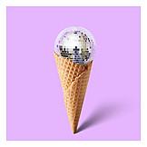 Ice cream wafer, Disco ball