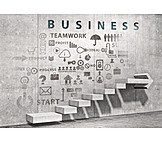 Business, Teamwork, Success Stairs