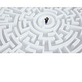 Business, Strategie, Labyrinth, Ausweg
