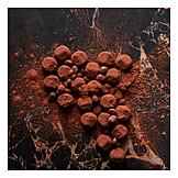 Truffle mushroom, Cocoa powder