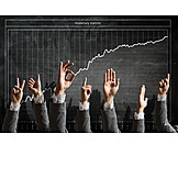 Growth, Hand sign, Statistics, Stock market