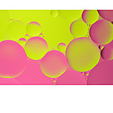 Backgrounds, Pink, Neon, Water bubbles, Neon yellow