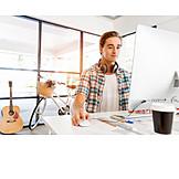 Job & Profession, Office & Workplace, Graphic Designer, Homeoffice