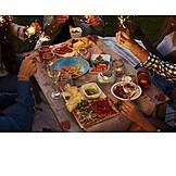 Sparkler, Dinner, Garden party