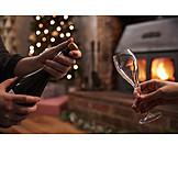 Champagne, Uncork, Advent season