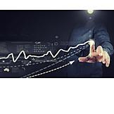 Business, World Economy, Touchscreen, Chart, Interface