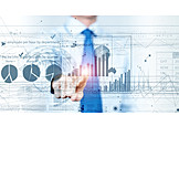 Business, Balance Sheet, Economy, Touchscreen, Interface
