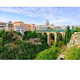 City view, Arch bridge, Apulia, Massafra, Gravina di san marco
