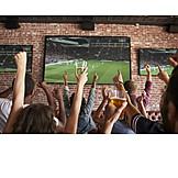 Soccer, Bar counter, Cheering, Fans