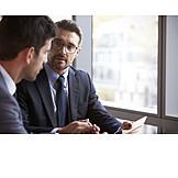 Businessman, Business, Workplace, Discuss