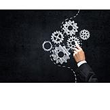 Business, Zahnrad, Strategie, Getriebe, Konzept