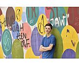 Teenager, Graffiti