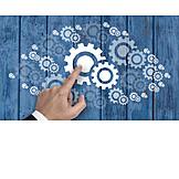 Business, Zahnrad, System, Getriebe, Mechanismus