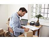 E Commerce, Parcel, Home Office