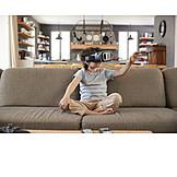 Boy, Virtual Reality, Video Eyewear