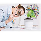 Business, Wachstum, Forschung, Beobachten, Wissenschaftlerin