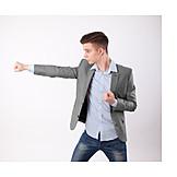 Teenager, Punching, Combat Ready