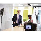 Businessman, Business, Online, Seminar, Filming, Vlog
