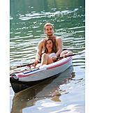Couple, Lake, Paddling