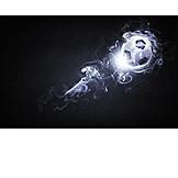 Soccer, Light, Smoke