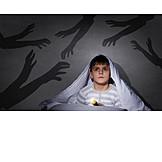 Kind, Angst, Gruseln, Albtraum