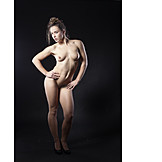 Naked, Nude, Pose, Sporting