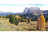 Dolomites, Schlern mountain, Seiser alm