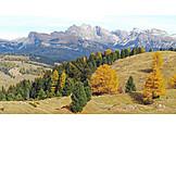 Dolomites, Autumn landscape