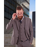Businessman, Glasses, Fashionable