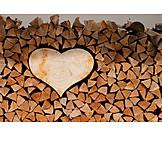 Wood pile, Wooden heart