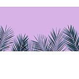 Copy space, Palm fronds