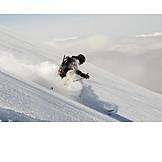 Ski, Powder snow, Skiers