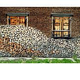 Wooden window, Wood shingle, Firewood