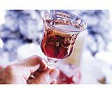 Crystal glas, Christmas punch