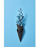 Decoration, Vase, Ice cream wafer