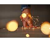 Heat, Feet, Christmas lights