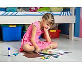 Girl, Reading, Nursery