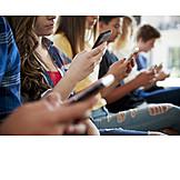 Teenager, School Children, Smart Phone, Inattentive