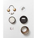 Retro, Alarm clock, Items