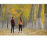 Teenager, Walk, Dog