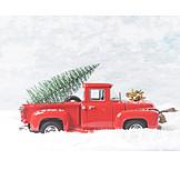 Christmas tree, Toy car, Transportation