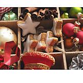 Christmas tree decorations, Cinnamon biscuit