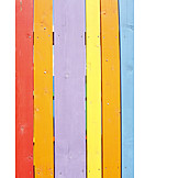 Painted, Timber fence
