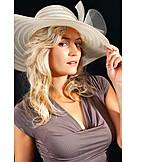Woman, Elegant, Sun hat