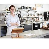 Business, Café, Besitzerin