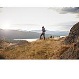 Man, Hiking, View