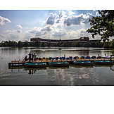 Lake, Jetty, Boat rental