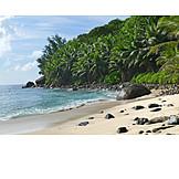 Silhouette, Sandy, Seychelles