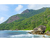 Coast, Silhouette, Seychelles